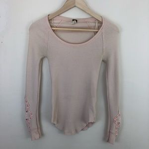 Free People Synergy Crochet Cuff Thermal Size XS